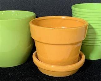 Grp 3 Vibrant Jardiniere Ceramic Cache Pots