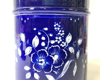 ESTE Italian Porcelain Jar W Floral Detail