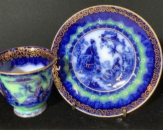 Vintage SA & Co. Gilt Porcelain Tea Cup & Saucer