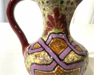 EARTHPEOPLE Hand Painted Ceramic Pitcher