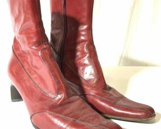 ANNE KLEIN Italian Leather Women's Boots 8.5