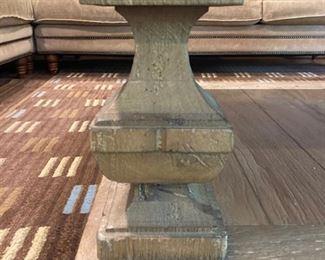 "Lexington wood coffee table - 17""x 43.5"""