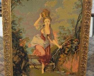 1618 - Framed Needlework - Lady