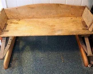 "Antique Buckboard Wagon Seat With Leaf Springs, 19"" x 41"" x 26"""