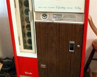 """The Vendo Co. Coin Operated Coca- Cola Vending Machine, Model H63B, 53.5"""" x 27.5"""" x 22"""""""
