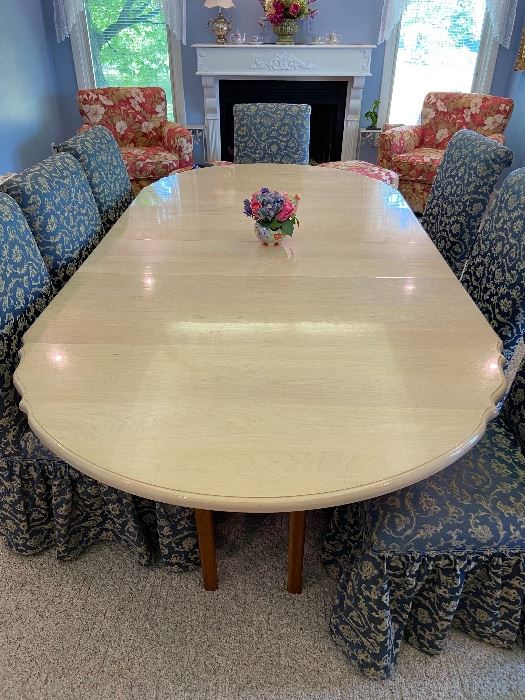 Amish Maple Top Table with Cherry Base / Seats 18