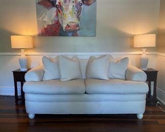 White Sofa (High end and comfortable)