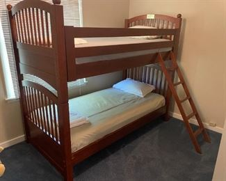 Cherry wood twin bunk beds