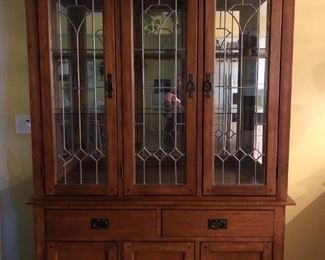 Darvin Mission Style China Cabinet--like new