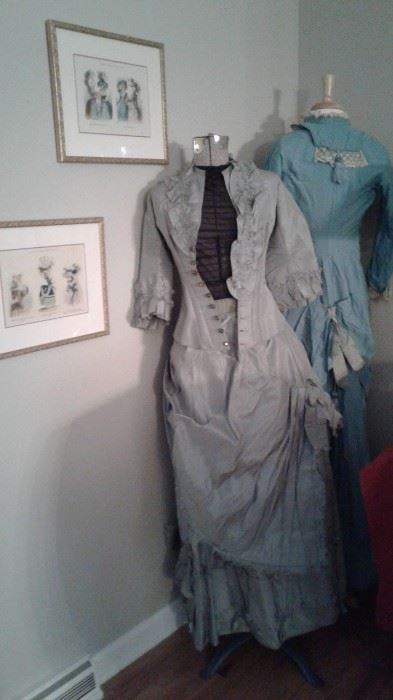 2 Stunning 1800s era dresses-in great condition.