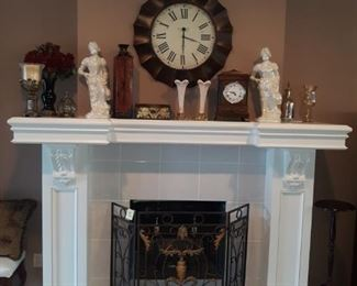 Modern decor, fireplace screen not for sale