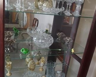 Various glass and crystal