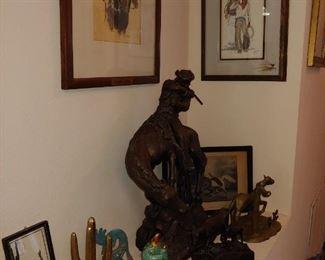 Statue (Bisque) &  Artwork