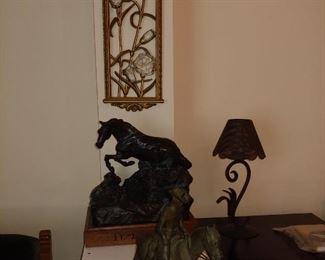 Cremation Horse Stature Urn & Misc
