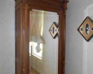 Fabulous ornate antique mirrored wardrobe