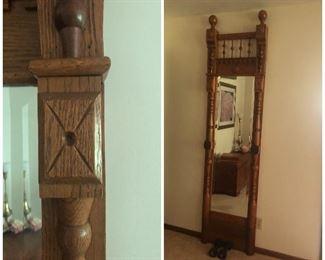 Solid Oak Pier Mirror.