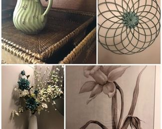 Nice selection of home decor and artwork