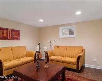 love seats, large coffee table