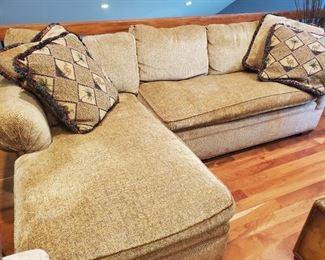 Sofa w/ chaise lounge