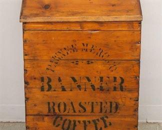 """Pine  """"Banner"""" Coffee Bin"""