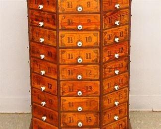 72 drawer Revolving Screw Cabinet