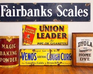 Dye Cabinet, Signs