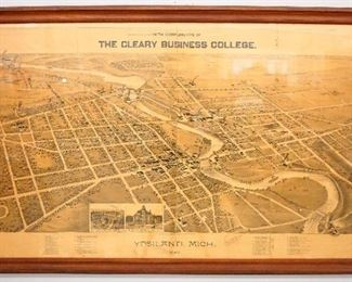 Ypsilanti Map, Cleary College 1890