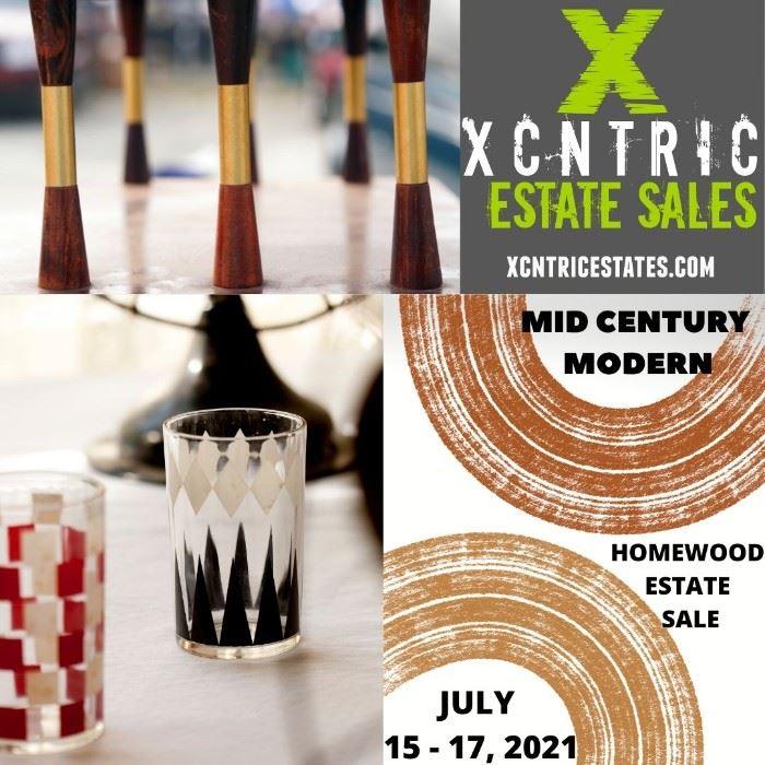 XCNTRIC Estate Sales Mid Century Modern Homewood Estate Sale