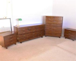 Bedroom Set: Highboy, Dresser, Night Stands & More