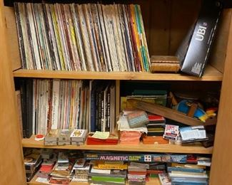 Large Selection of Vintage Playing Cards and Records