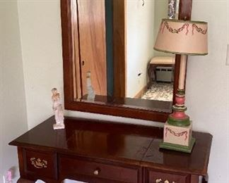 Mahogany Dressing Table and Mirror