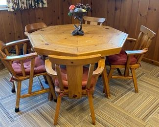 Mid-Century Game Table with Hidden Compartments