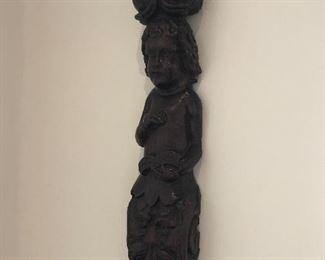Carved antique wood fragment