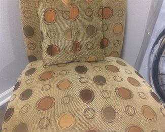 26 x 35 poke a dot chair: $60