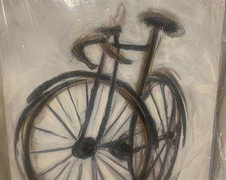 40 x 54 bike artwork: $100