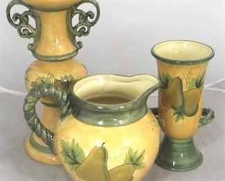 3 - 3 Piece art pottery set