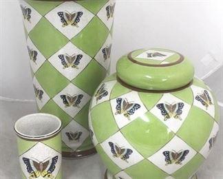 4 - 3 Piece art pottery set