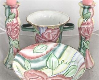 5 - 4 Piece art pottery set