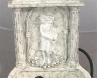 """7 - Faux marble water fountain 12"""" tall"""