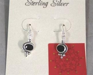 8 - Pair .925 sterling earrings
