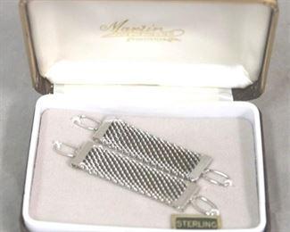 9 - Pair .925 sterling cuff link extenders