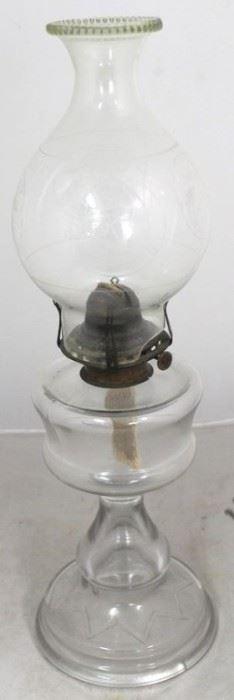 """14 - Vintage kerosene lamp 19"""" tall"""