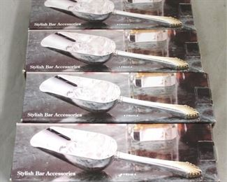 13 - 4 Silver plated ice scoops New in box