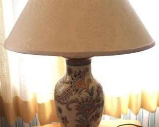 "19 - Ceramic lamp - 26"" tall"