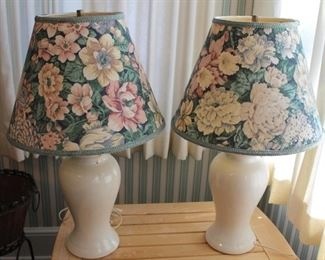 """17 - Pair table lamps 28"""" tall"""