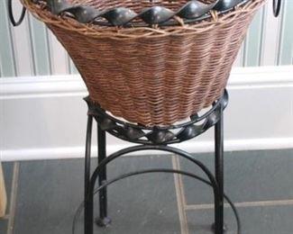 "18 - Basket planter - 22"" tall"