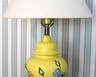 "24 - Ceramic lamp - 26"" tall"