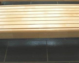 27 - Wood coffee table 18 x 49 x 16
