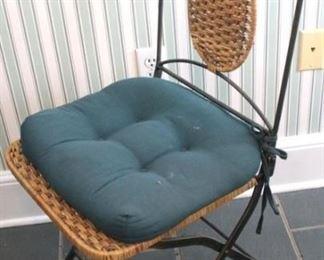 30 - Wicker & metal chair