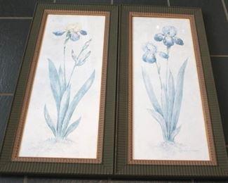 33 - Pair framed prints - 16 x 34